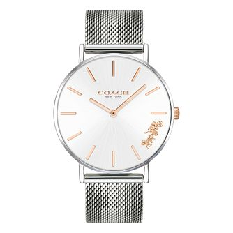 Coach Perry Ladies' Stainless Steel Mesh Bracelet Watch - Product number 2897342