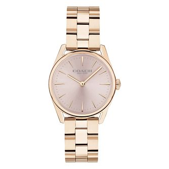 Coach Modern Luxury Ladies' Rose Gold Plated Bracelet Watch - Product number 2897415