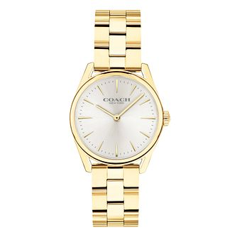 Coach Modern Luxury Ladies' Gold Plated Bracelet Watch - Product number 2897431