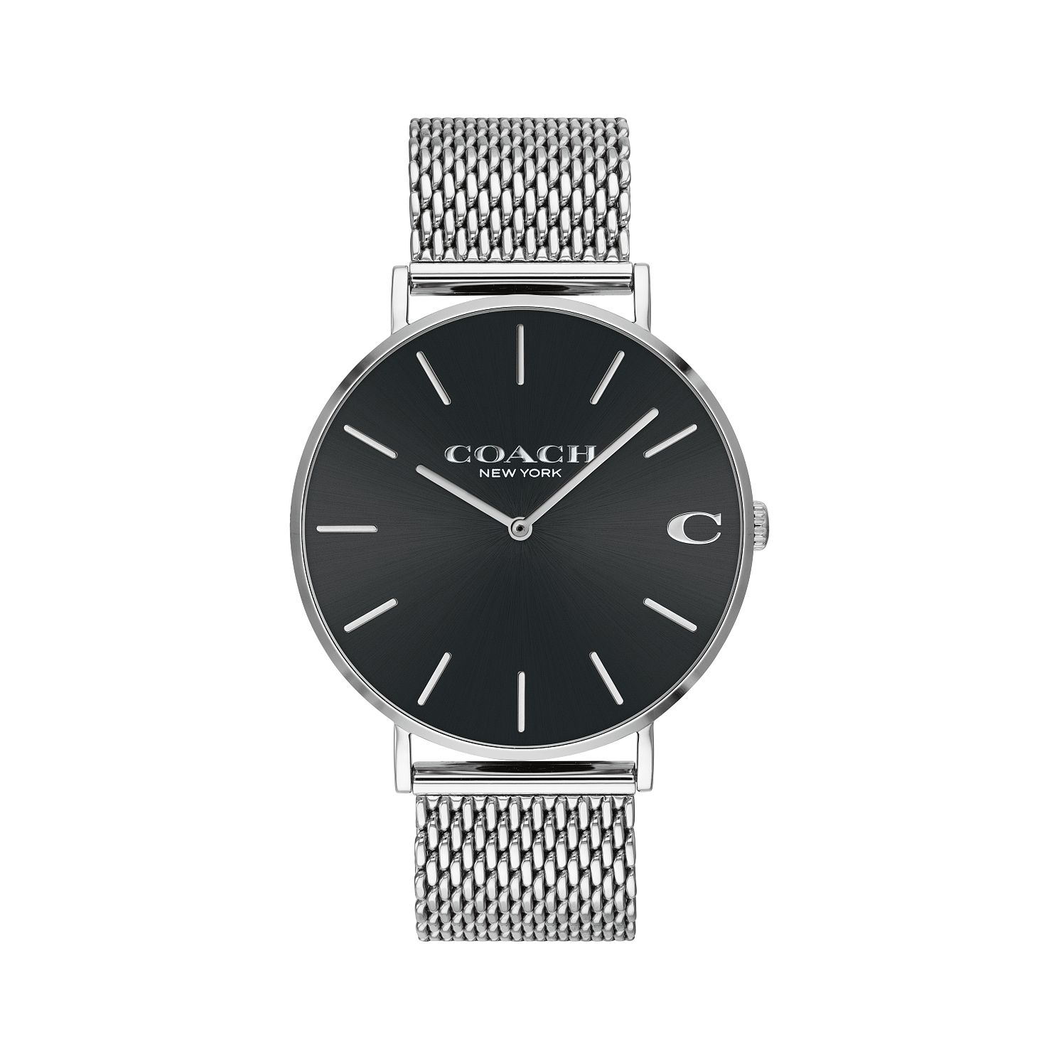Coach Charles Men's Stainless Steel Mesh Bracelet Watch - Product number 2897458