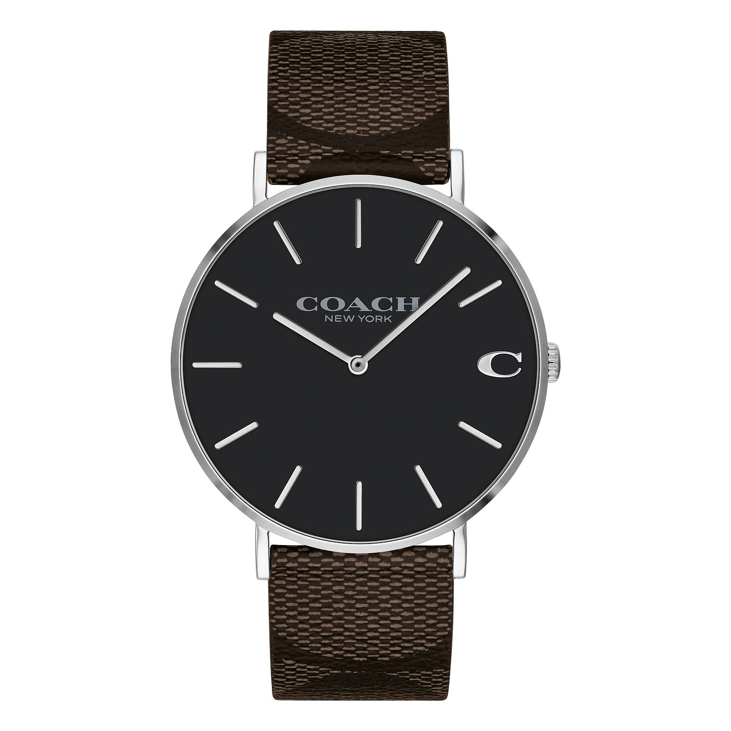 Coach Charles Men's Signature Brown Leather Strap Watch - Product number 2897520