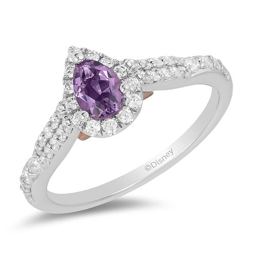 Enchanted Disney Fine Jewelry Diamond Amethyst Ariel Ring - Product number 2897733