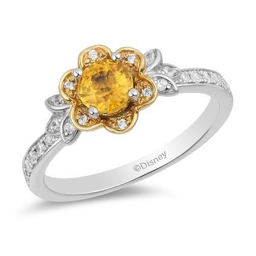Enchanted Disney Fine Jewelry Diamond Citrine Belle Ring - Product number 2897873