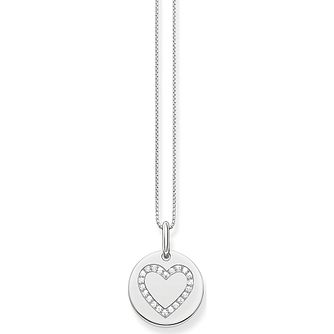 Thomas Sabo Silver Cubic Zirconia Heart Pendant - Product number 2899035