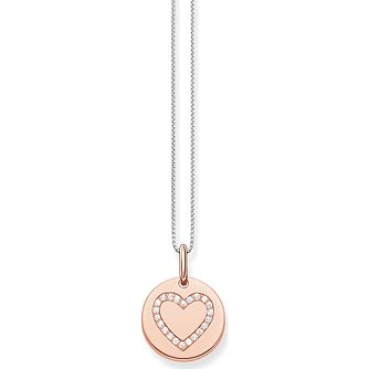 Thomas Sabo Rose Tone Cubic Zirconia Heart Pendant - Product number 2899086