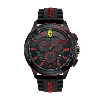 Ferrari Scuderia XX Men's Black Silicone Strap Watch - Product number 2899450