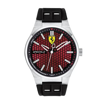 Ferrari Scuderia Speciale Men's Black Silicone Strap Watch - Product number 2899469