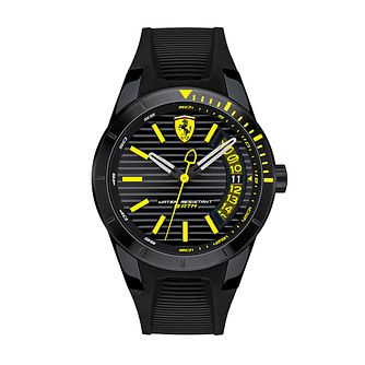 Ferrari Scuderia RedRev T Men's Black Silicone Strap Watch - Product number 2899507