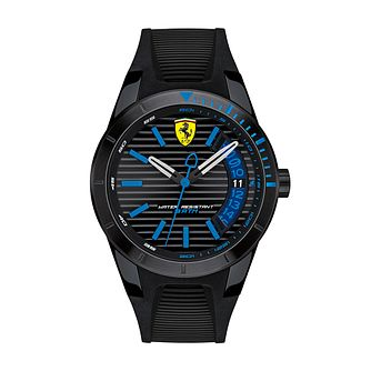 Ferrari Scuderia RedRev T Men's Black Silicone Strap Watch - Product number 2899515