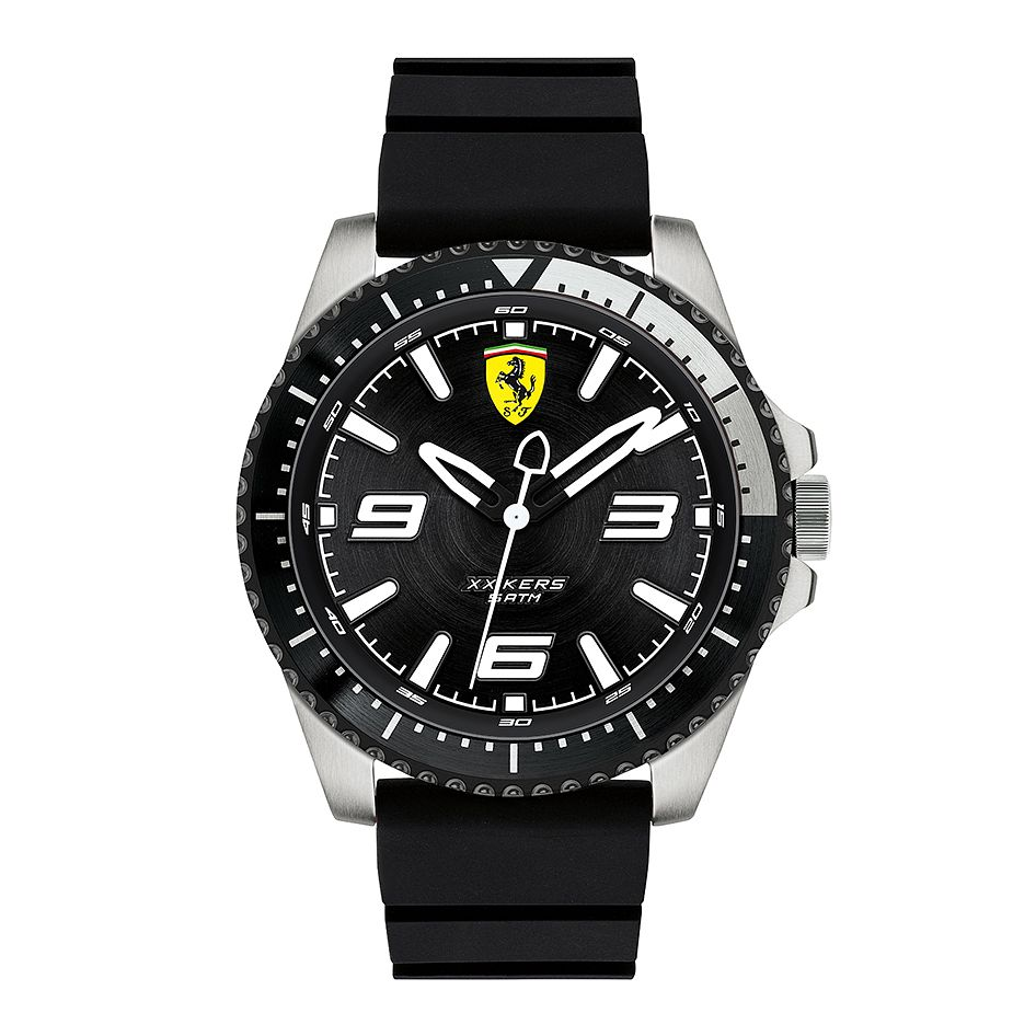 Ferrari Scuderia XX Kers Men's Black Silicone Strap Watch - Product number 2899604