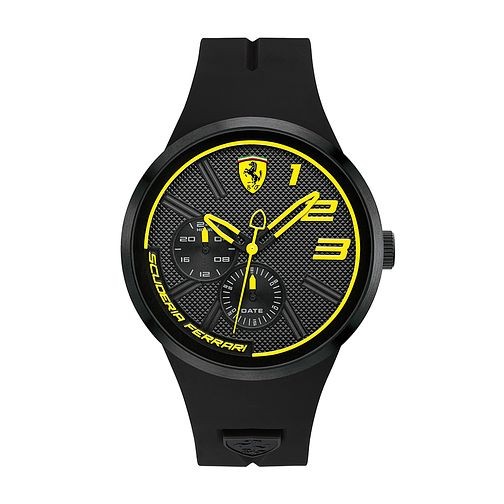 Ferrari Scuderia FXX Men's Black Silicone Strap Watch - Product number 2899620