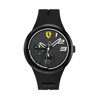 Ferrari Scuderia FXX Men's Black Silicone Strap Watch - Product number 2899639