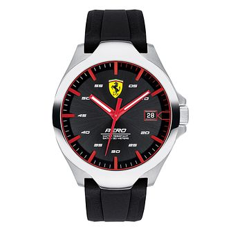 Ferrari Scuderia Aero Men's Black Silicone Strap Watch - Product number 2899809