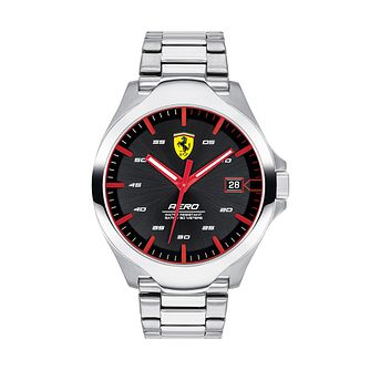 Ferrari Scuderia Aero Men's Stainless Steel Bracelet Watch - Product number 2899817