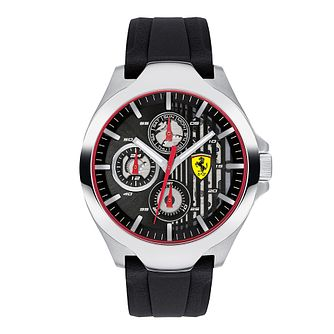 Ferrari Scuderia Aero Men's Black Silicone Strap Watch - Product number 2899825