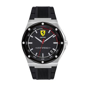 Ferrari Scuderia Aspire Men's Black Silicone Strap Watch - Product number 2899876