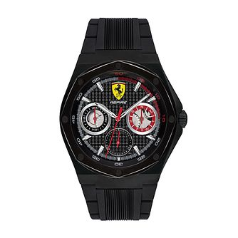Ferrari Scuderia Aspire Men's Black Silicone Strap Watch - Product number 2899906