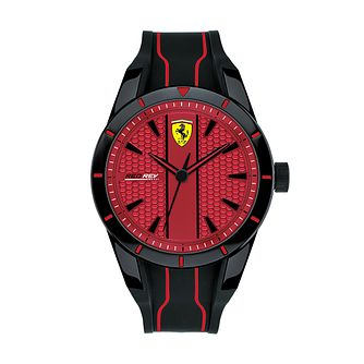 Ferrari Scuderia RedRev Men's Black Silicone Strap Watch - Product number 2899914
