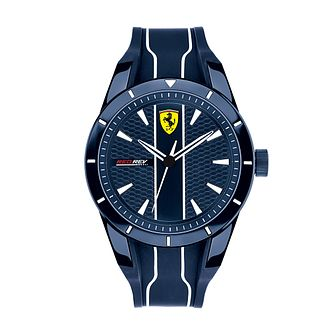 Ferrari Scuderia RedRev Men's Dark Blue Silicone Strap Watch - Product number 2899922