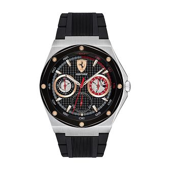Ferrari Scuderia Aspire Men's Black Silicone Strap Watch - Product number 2899930