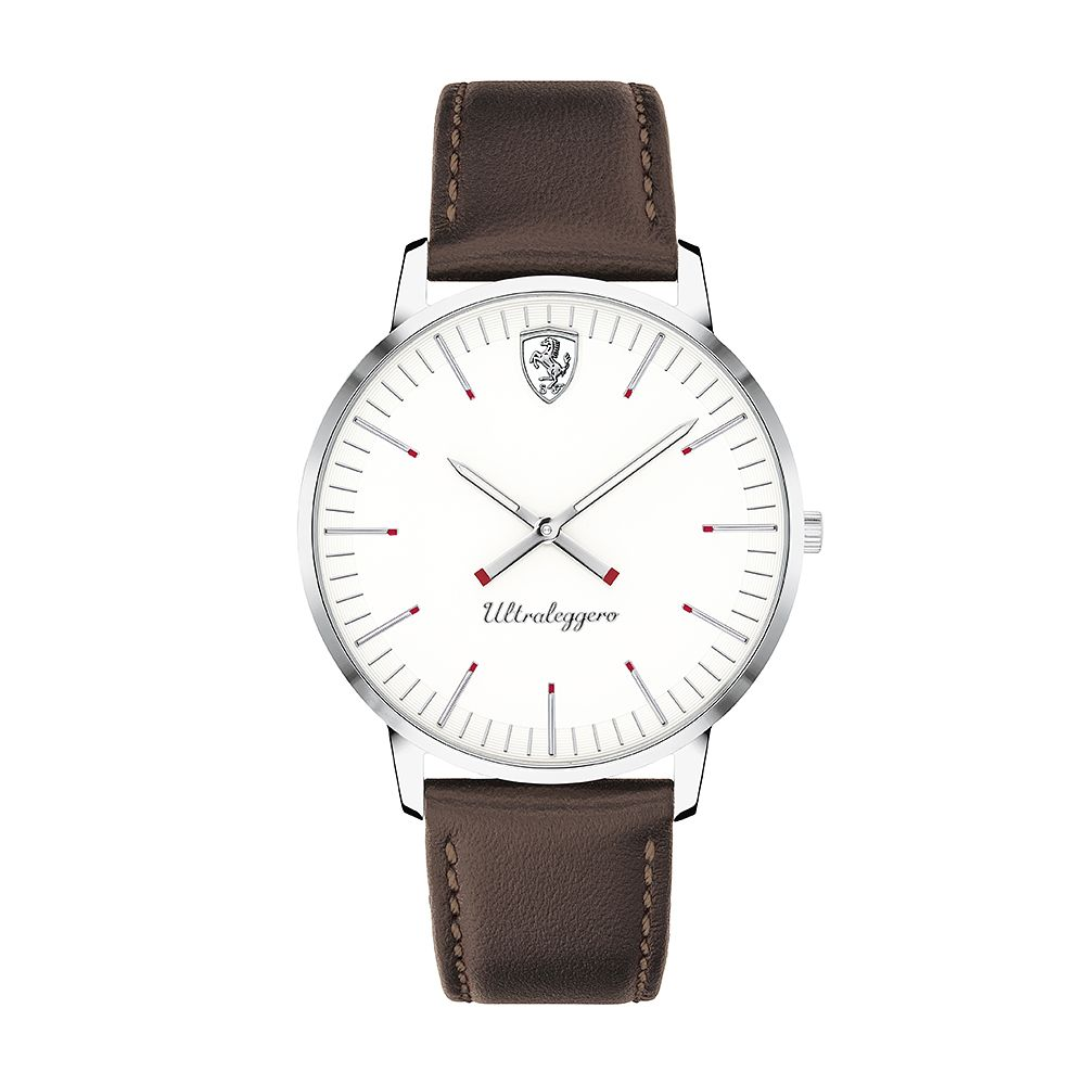 Ferrari Scuderia Ultraleggero Brown Leather Strap Watch - Product number 2899949