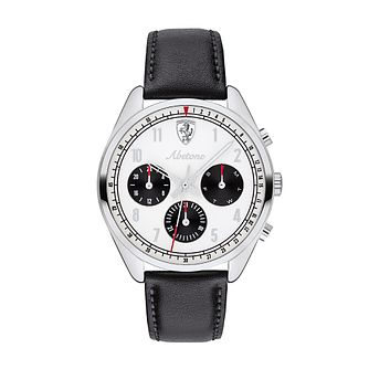 Ferrari Scuderia Abetone Black Leather Strap Watch - Product number 2900068