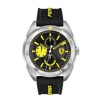 Ferrari Scuderia Forza Men's Black Silicone Strap Watch - Product number 2900106