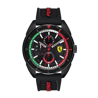 Ferrari Scuderia Forza Men's Black Silicone Strap Watch - Product number 2900114