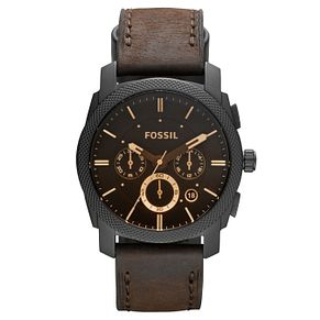 Fossil Men's Brown Leather Strap Watch - Product number 2901765