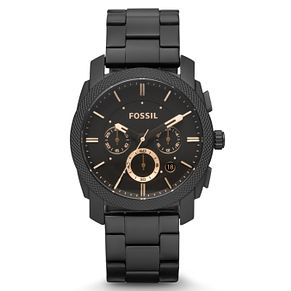 Fossil Men's Black Stainless Steel Bracelet Watch - Product number 2901773