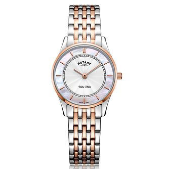 Rotary Ultra Slim Ladies' Two-Tone Bracelet Watch - Product number 2902168