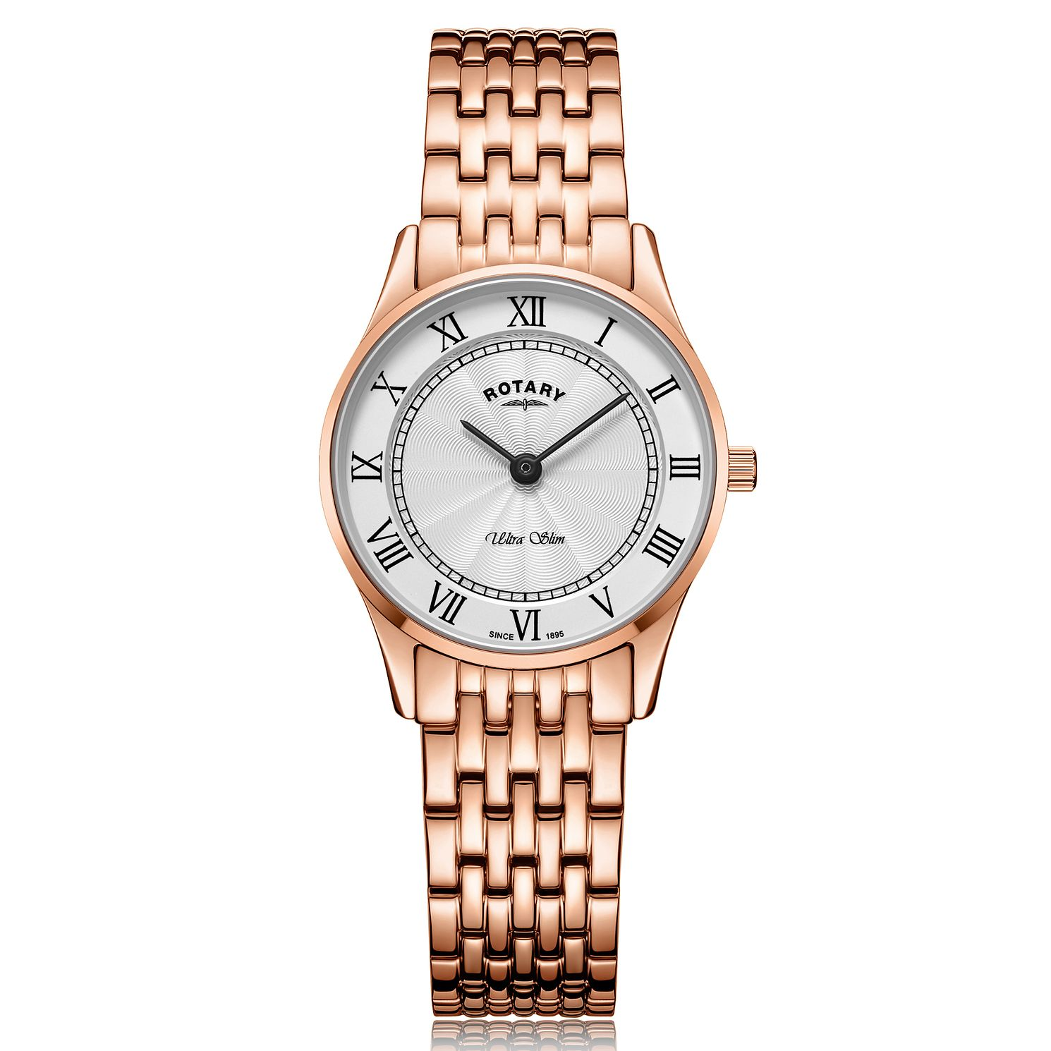 Rotary Ultra Slim Ladies' Rose Gold Plated Bracelet Watch - Product number 2902176