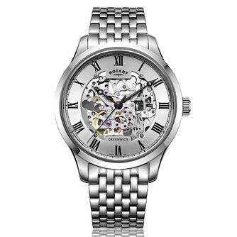 Rotary Greenwich Men's Stainless Steel Bracelet Watch - Product number 2902192