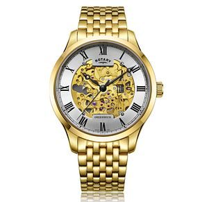 Rotary Greenwich Men's Gold Plated Bracelet Watch - Product number 2902206