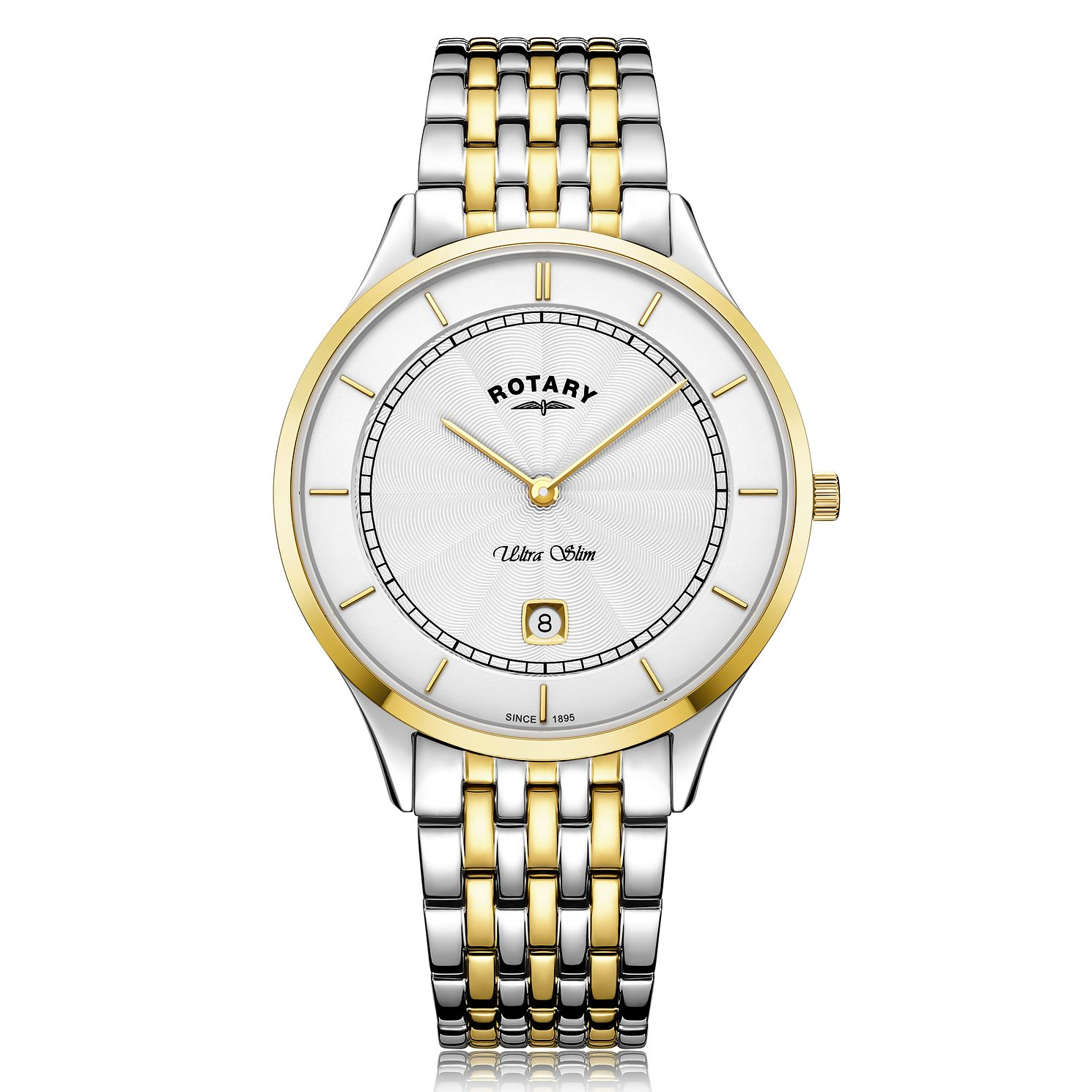 Rotary Ultra Slim Men's Two-Tone Bracelet Watch - Product number 2902303