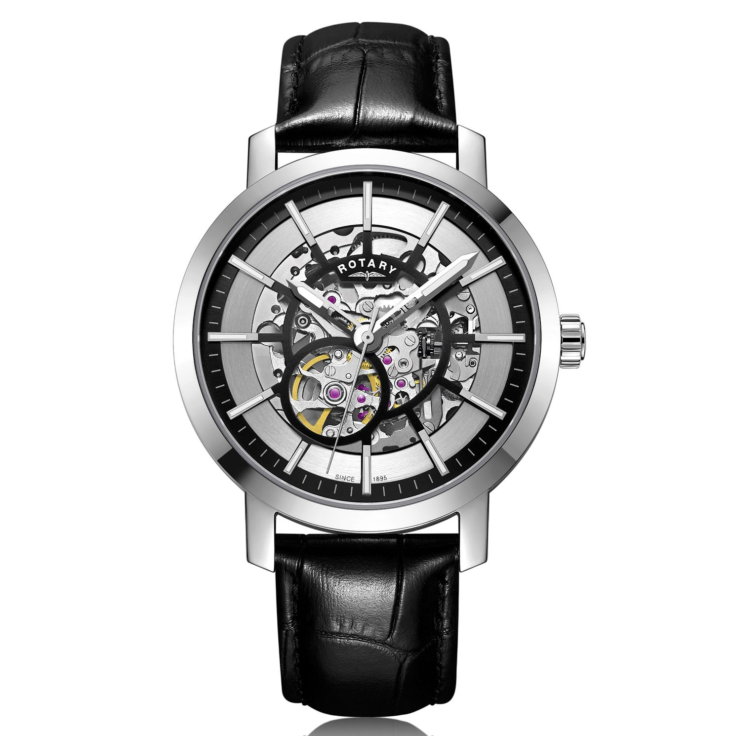 Rotary Greenwich G2 Men's Black Leather Strap Watch - Product number 2902311