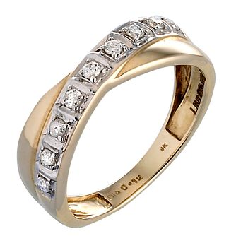 9ct Gold 0.12ct Diamond Ring - Product number 2906821