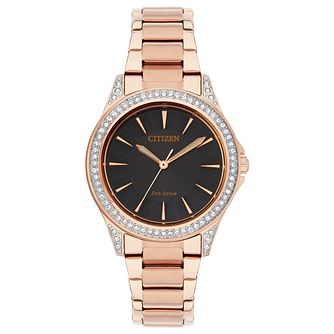 Citizen Eco-Drive Ladies' Rose Gold Plated Bracelet Watch - Product number 2908506