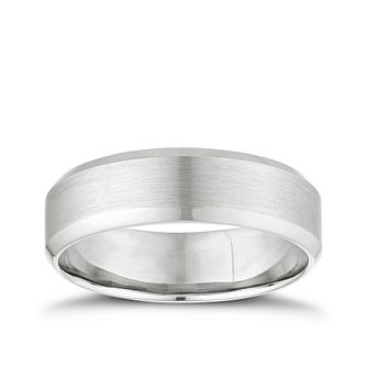 Palladium 6mm Matt & Polished Band - Product number 2913720
