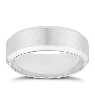Palladium 7mm Matt & Polished Ring - Product number 2913895