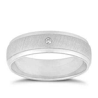 Palladium Diamond Matt & Polished Band - Product number 2914077