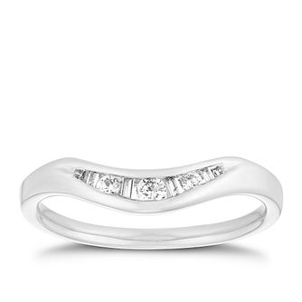 Platinum 1/10ct Channel Set Diamond Shaped Ring - Product number 2917149