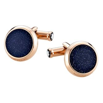 Montblanc Stainless Steel & Red Gold-Plated Cufflinks - Product number 2918323