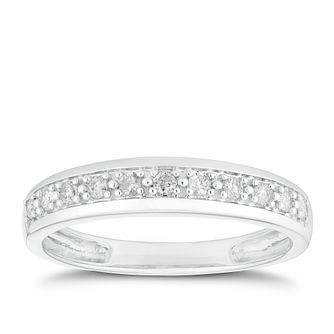 9ct White Gold 0.15ct Diamond Eternity Ring - Product number 2918625