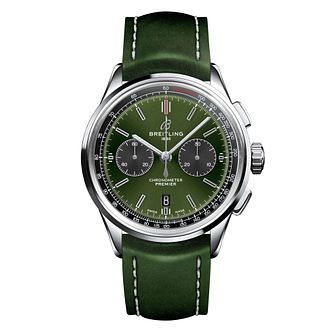 Breitling Premier B01 Bentley Green Leather Strap Watch - Product number 2923378