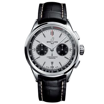 Breitling Premier B01 Chronograph Black Leather Strap Watch - Product number 2923416