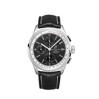 Breilting Premier Chronograph Black Leather Strap Watch - Product number 2923459