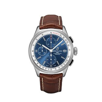 Breilting Premier Chronograph Brown Leather Strap Watch - Product number 2923475
