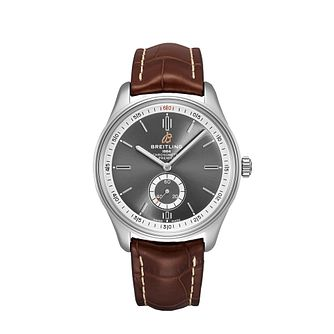 Breitling Premier Automatic Brown Leather Strap Watch - Product number 2923491