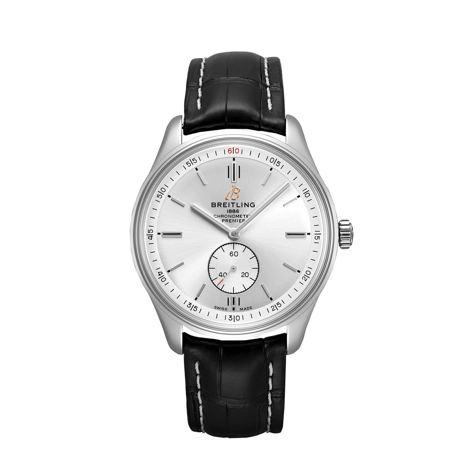 Breitling Premier Automatic Black Leather Strap Watch - Product number 2923688